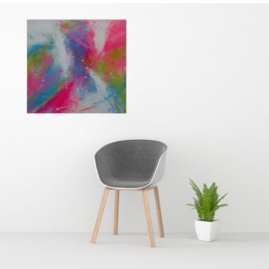 Kleurrijk schilderij