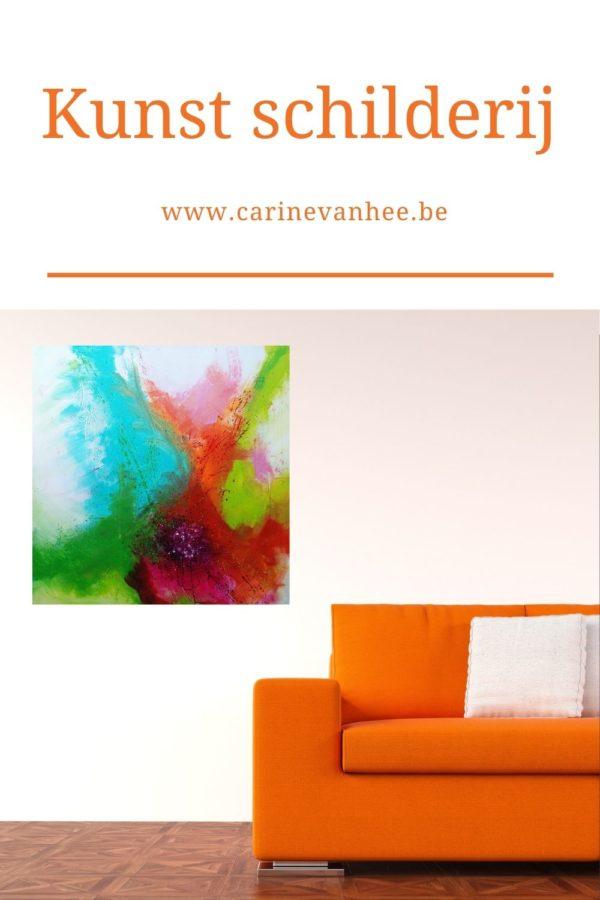 Kleurrijke kunst acryl